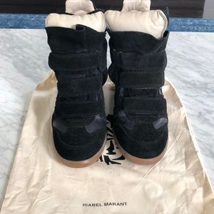 Authentic ISABEL MARANT Bekett leather/sneakers